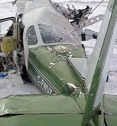 The Cessna aircraft that crashed, claiming the lives of four people near Waskada a year ago.