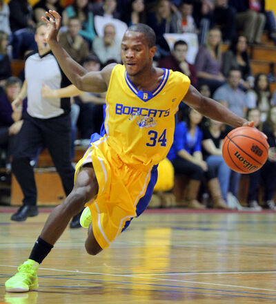 Brandon University Bobcats point guard Ilarion Bonhomme was named the Canada West rookie of the year Thursday.