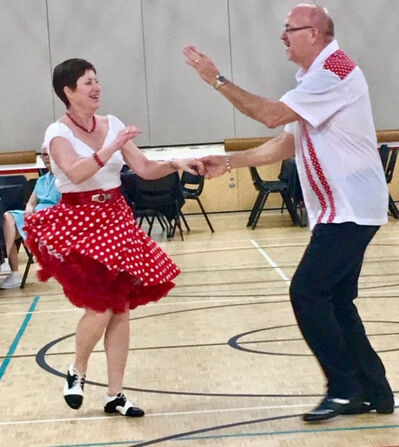 Rockabilly dancers show off their best moves at Virden Culture Day. (Submitted)
