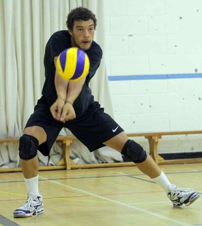 Rob McLean started eight matches at left side in the first semester for the Brandon University Bobcats men's volleyball team.