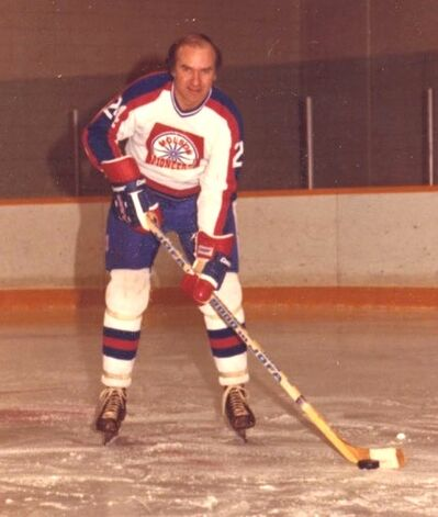 Bob Wilson poses for a picture during his time with the Molson Pioneers.