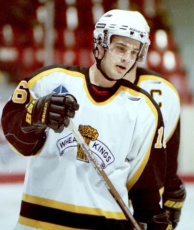 Brandon Wheat Kings forward Alex Argyriou is shown during a 6-1 win over the visiting Moose Jaw Warriors in Western Hockey League action at the Keystone Centre on Jan. 10, 1999.