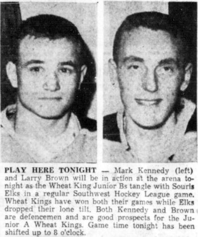 Mark Kennedy, left, and Larry Brown are featured in the Dec. 19, 1963 edition of the Brandon Sun.