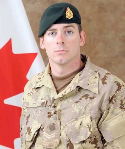 Cpl. Josh Baker is shown in a military handout photo. Retired Manitoba warrant officer Paul Ravensdale has been found not guilty of manslaughter in a 2010 training accident in Afghanistan that killed Cpl. Baker.THE CANADIAN PRESS/ho-Canadian Armed Forces