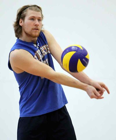 Fifth-year setter Garrett Popplestone hopes he can finish his playing career with the Brandon University Bobcats men's volleyball team by earning a spot in the CIS nationals.