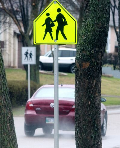 The school crossing zone near Waverly Park School may soon see a speed limit of 30 km/h.