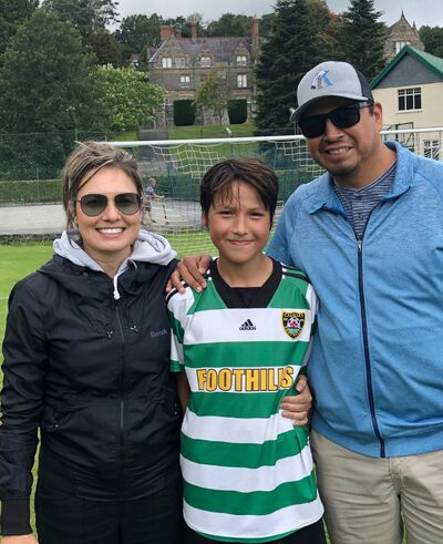 Charlton Weasel Head is pictured with wife Stacey and son Talon after a soccer game in 2019. (Submitted)