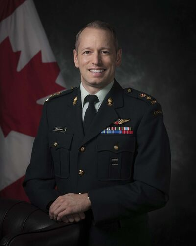 Lt. Col. David Brassard is taking over command of First Regiment Royal Canadian Horse Artillery at CFB Shilo. (Aviator Valerie Mailhot, Canadian Forces Support Unit)