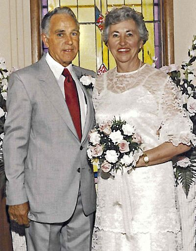 Wedding photo of Evan and Wilda Squires in 1986. The Minnedosa couple was murdered in Weslaco, Texas, in 1988.