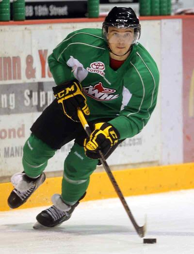 Brandon Wheat Kings scoring leader Alessio Bertaggia will head home to try out for the Swiss national junior team after this weekend's games at Westman Place.