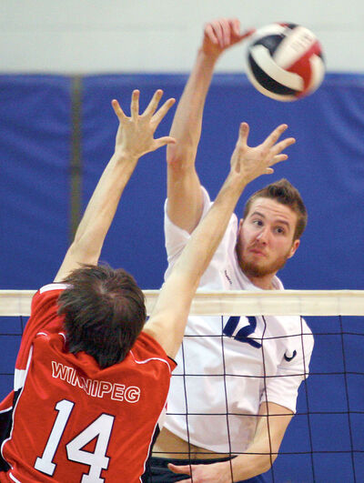 New Assiniboine Community College men's volleyball coach Joel Small of Brandon was a Canada West conference all-star while a member of the Brandon University Bobcats.