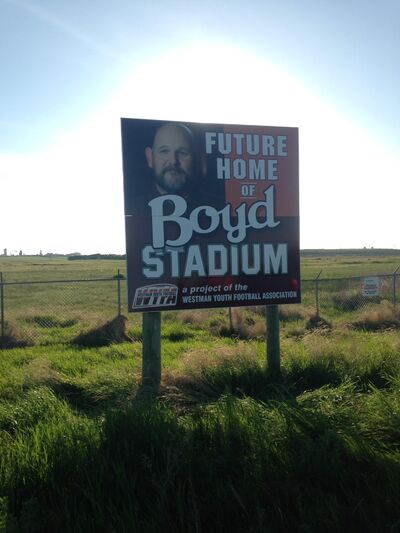 The fundraising campaign for Boyd Stadium, the future home of the Westman Youth Football Association, has already begun. The hope is for the fields for the facility, located near Simplot Millennium Park, to be completed this fall.