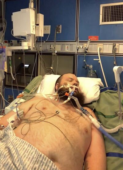 Kris Isford, 35, contracted COVID-19 April 23. By May 4, he was placed in a medically induced coma and intubated at the Brandon Regional Hospital. (Submitted)</p></p></p>