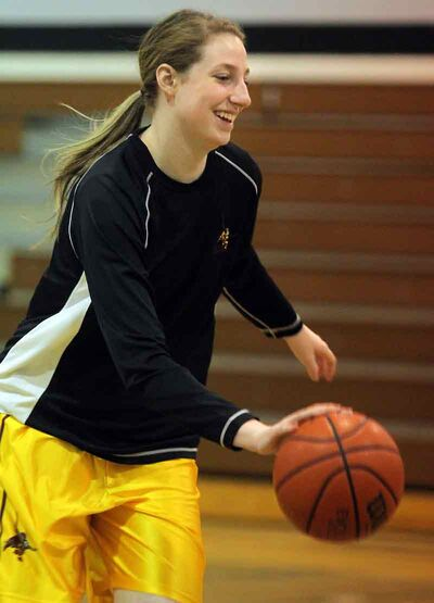 Senior Stephanie Hunter is a two-sport star for the Crocus Plainsmen.