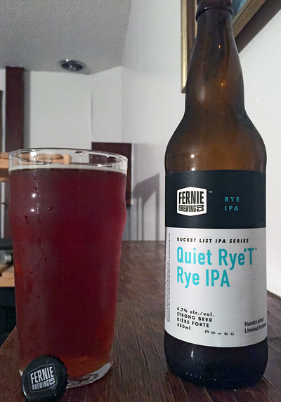Quiet Rye't Rye IPA by Fernie Brewing