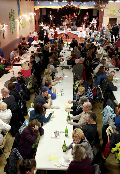 The Ukrainian pavilion attracts a full house during the 11th annual Lieutenant Governor's Winter Festival on Saturday.