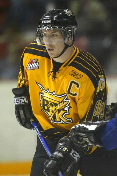 Mark Derlago, shown during the 2006-07 season as Brandon Wheat Kings captain, has retired from playing pro hockey and joined the club as an assistant coach.