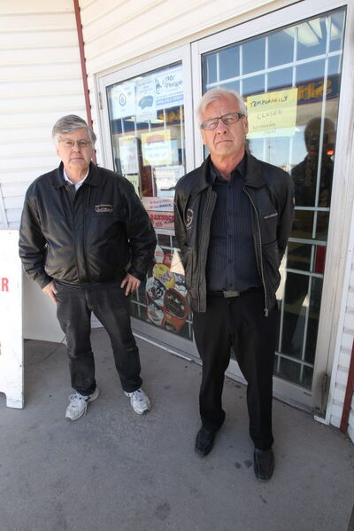 David Doer (left) and Larry Penner went to court to have their eviction from the gas bar overturned.