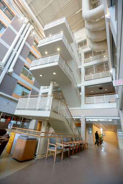 Plans were made in 2011 to install permanent barriers on the third, fourth and fifth-floor balconies overlooking the atrium of the Brandon Regional Health Centre.