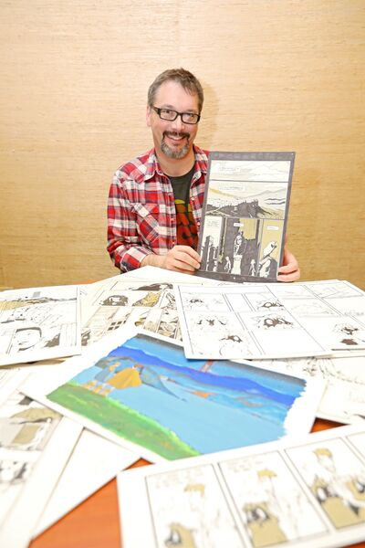 T. Keith Edmunds shows a collection of work by comic artist friend Stephen Groves, who passed away late last year. Edmunds has crowdfunded to publish a book of Groves' work hopefully later this year.