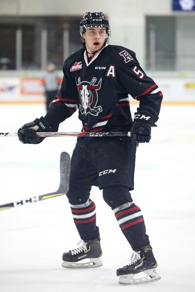 Dawson Barteaux of Foxwarren has started all 41 games for the Red Deer Rebels this season, recording five goals and 24 points.