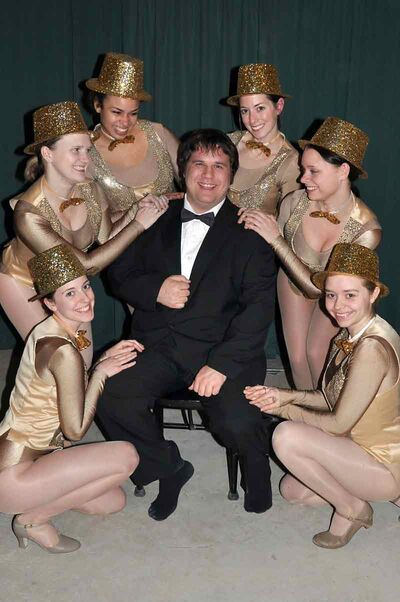 "Another group of highly talented locals will be performing this week in the 7 Ages production of ""The Producers"". Jeremy Lancaster, surrounded by the tap-dancing chorus, plays the iconic role of Broadway producer Max Bialystock ."