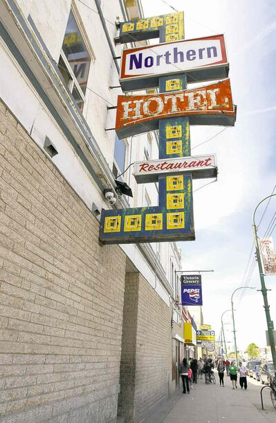 The Northern Hotel is an example of a commemorated property that has no special protection, just a certificate.