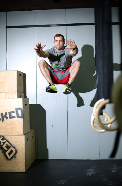Zack McMillan seen during a recent CrossFit workout session.