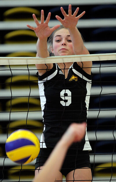 """Killarney's Tayler Blatchford says she was a """"horrible"""" player when she took up volleyball three years ago. She stuck with it and now she's drawing interest from university teams."""