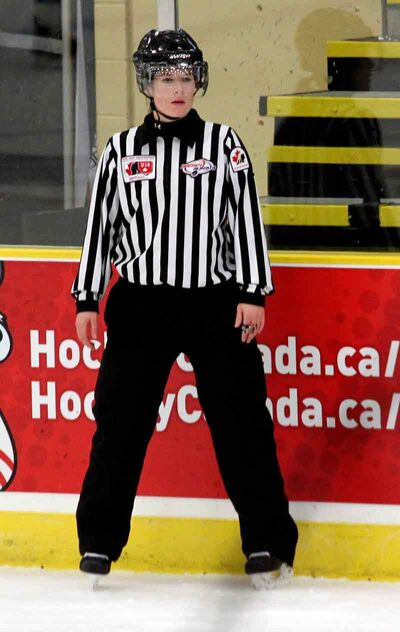 Brandon product Erica Holmes has worked a pair of national women's hockey championships as well as the 2011 Canada Winter Games inHalifax.