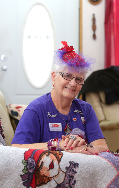 Apparently Cyndi Lauper was right: Girls Just Want to Have Fun! And while the members of the Red Hat Society aren't necessarily 'girls' anymore, the goal of the worldwide organization is encouraging them to behave like girls, anytime, anyplace, anywhere. Joyce Douglas is the Queen of the Red Hat Peppers, one of two Red Hat chapters in Brandon, and is the ringleader for a group of two dozen women who get together frequently to go out and live their lives to the fullest.