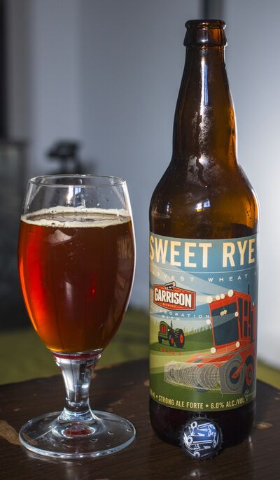 Sweet Rye'd Harvest Wheat Ale, which has been created by Garrison Brewing of Halifax and Beau's All Natural organic brewery in Vankleek Hill, Ont., is available for the first time in Manitoba.