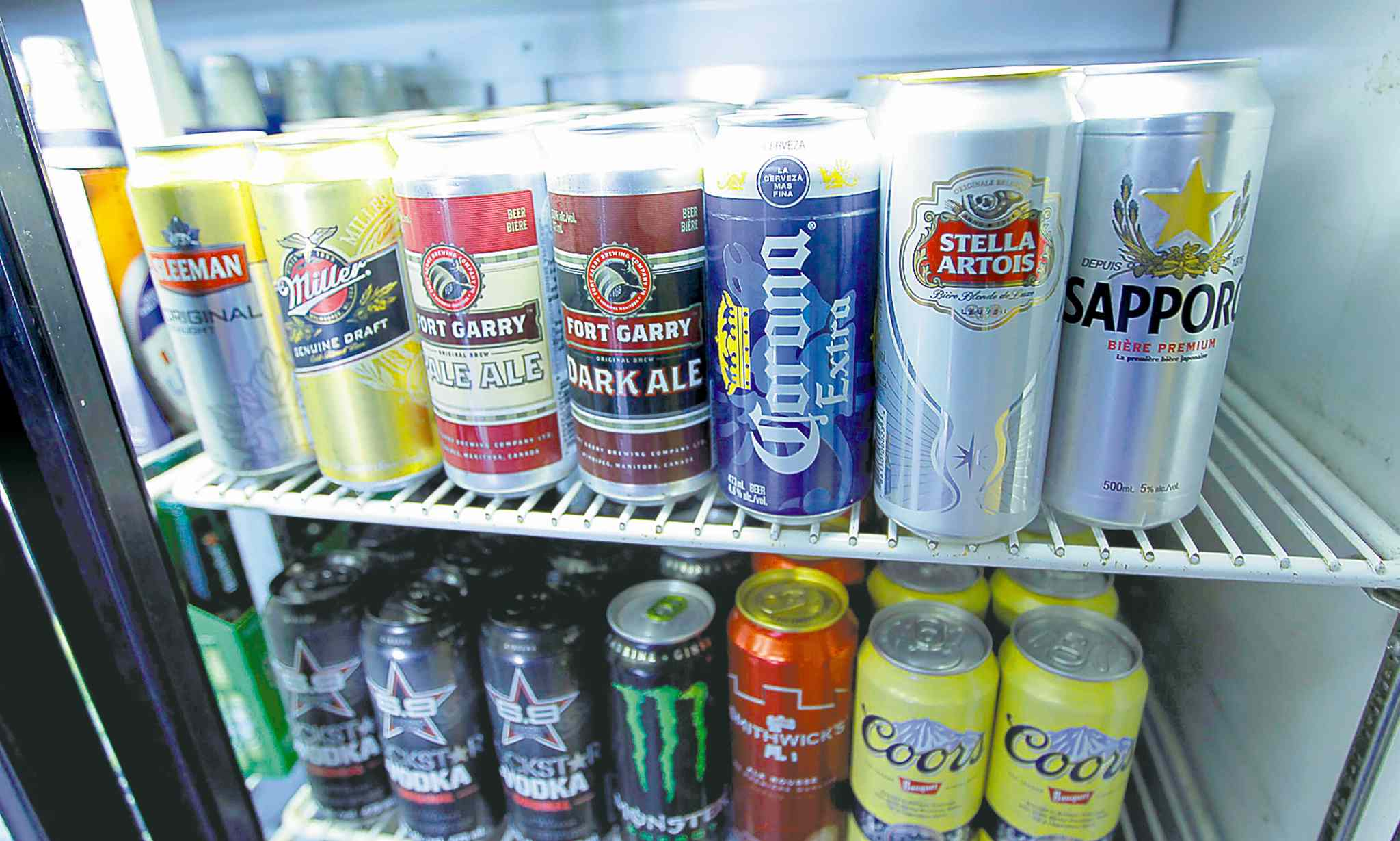 Single-can sales of cheap beer are a staple of low-income alcoholics. Manitoba has adjusted prices based on alcohol content to address this.