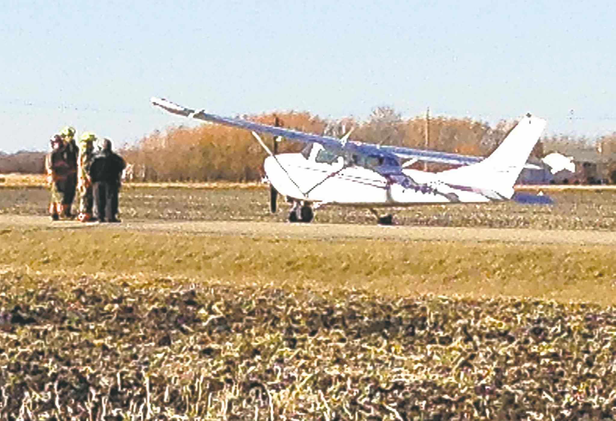The pilot landed his engine-troubled plane in St. Andrews.