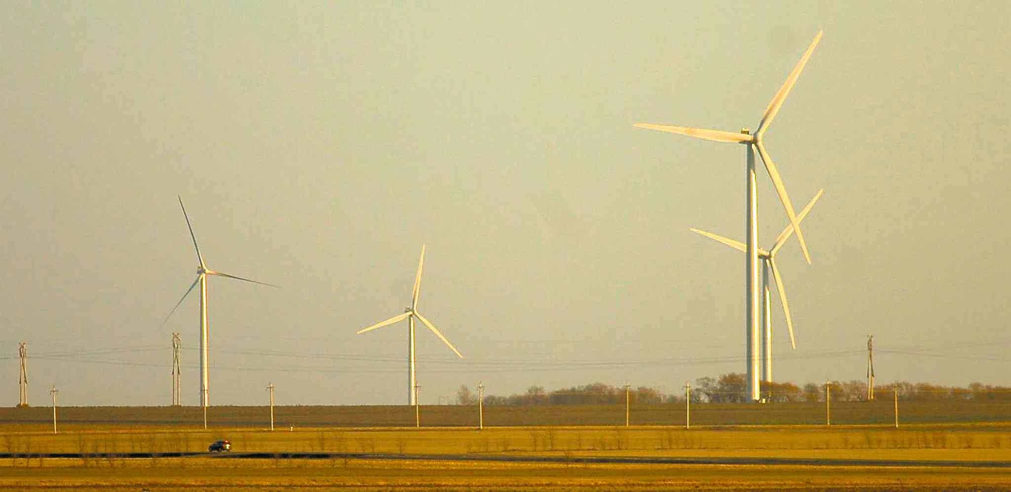 These turbines have been a fixture in St. Leon for years. Plans to build another wind farm have been scrapped. Proponents say Manitoba Hydro is set on building two dams.
