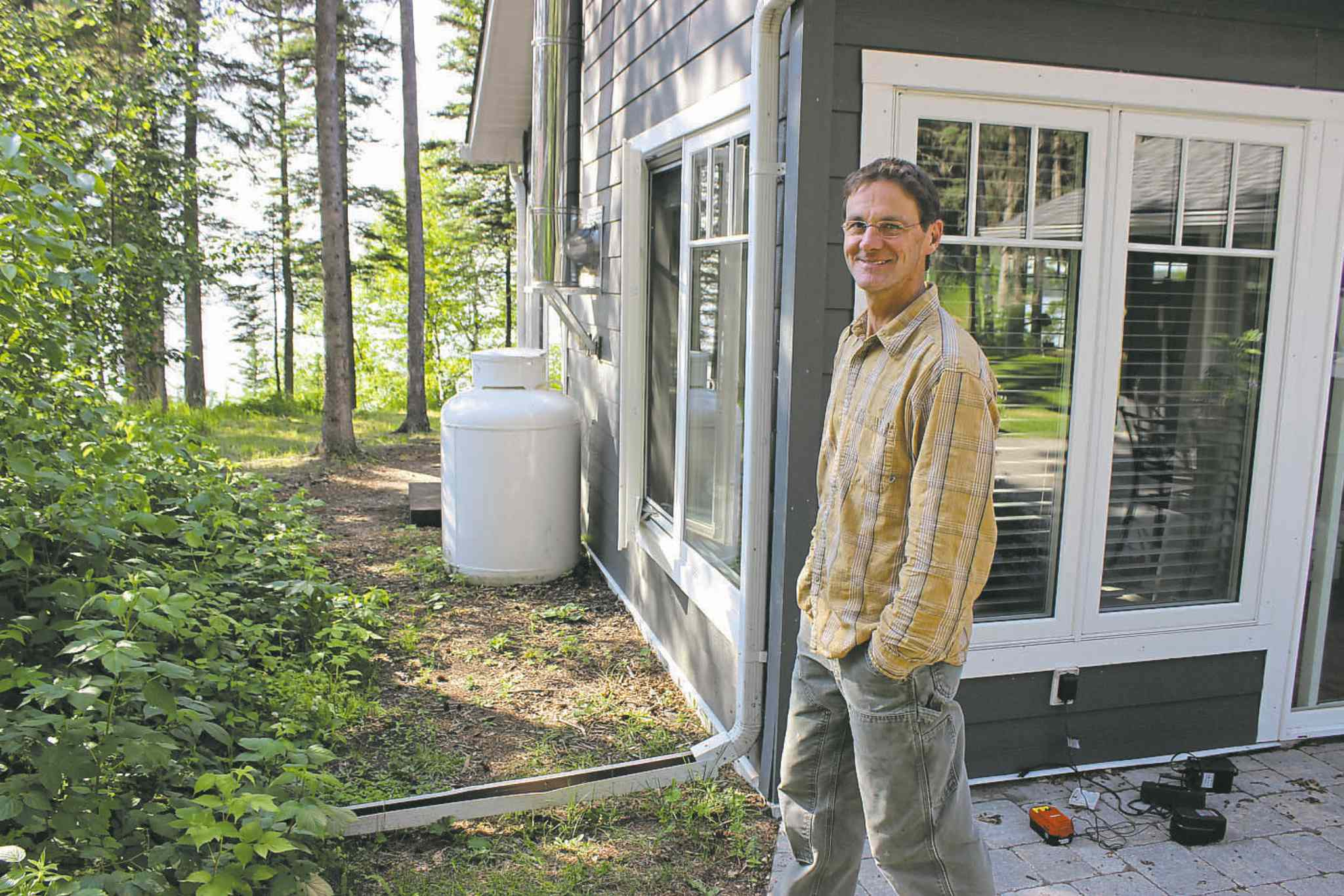 Michael Thiele at his lakefront  cottage in Clear Lake: �We need rules to protect against ourselves.�