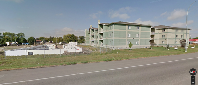 Google Street View image of medium-density housing on 18th Street North.
