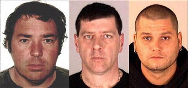 Escaped Quebec inmates (left to right) Serge Pomerleau, Denis Lefebvre and Yves Denis are shown in Interpol handout photos. Interpol has issued an international alert for the three prisoners who used a helicopter to make a bold getaway from a Quebec prison. THE CANADIAN PRESS/HO-Interpol