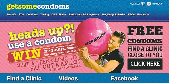 The getsomecondoms.com website is only one of many media outlets for the advertising blitz.