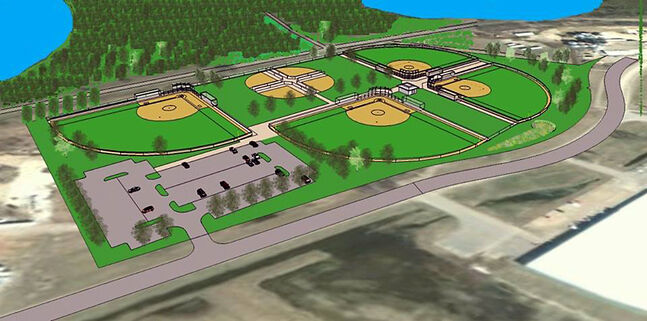 The group trying to raise money to build the Ashley Neufeld Softball Complex is about halfway to its fundraising goal and two of the four diamonds are on track to open in spring 2015.