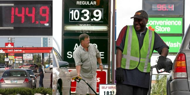 A selection of file photos documenting gas prices in Brandon.