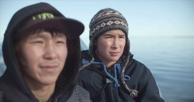 Lukasi Forrest (left) as Tomas and Travis Kunnuk as Travis are shown in a scene from the film