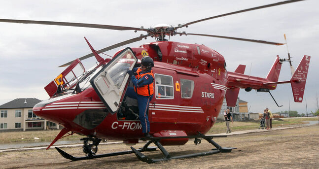 The STARS air ambulance is back in the air after a months-long grounding over the winter.