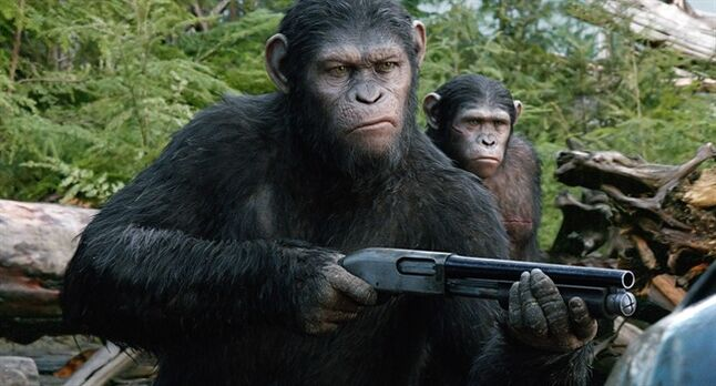 Andy Serkis as Caesar in a scene from the film,