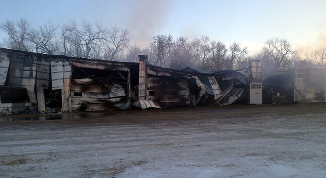 A fire at Hamiota Feedlot Ltd., located about five kilometres west of Hamiota, early Thursday destroyed the company's office building, according to RCMP. No one was injured in the blaze. The cause has yet to be determined.