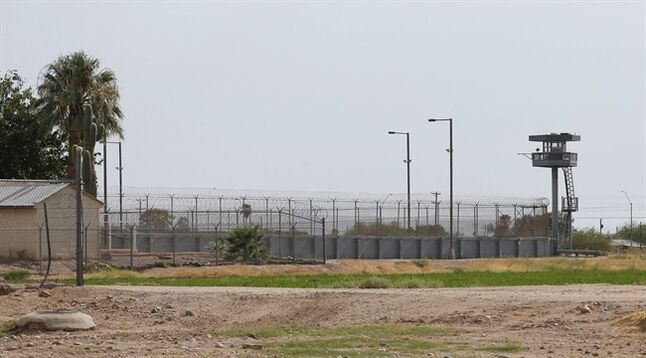 The Arizona state prison is shown where the nearly two hour execution of Joseph Rudolph Wood took place on Wednesday, July 23, 2014, in Florence, Ariz. Wood was convicted in the 1989 shooting deaths of Debbie Dietz, 29, and Gene Dietz, 55, at an auto repair shop in Tucson. (AP Photo)
