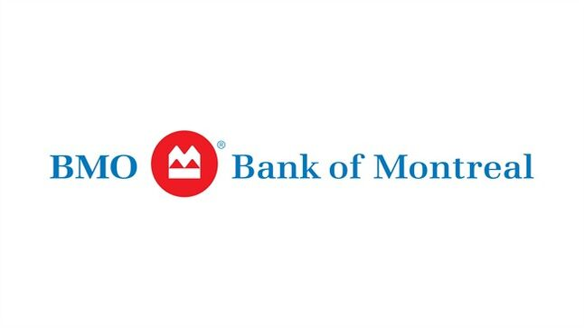 The corporate logo for BMO (Bank of Montreal) is shown. THE CANADIAN PRESS/HO