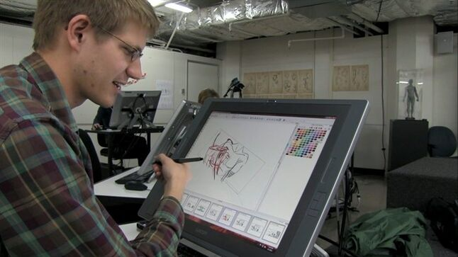 This photo provided by 2K Games shows a student drawing an illustration in the film,