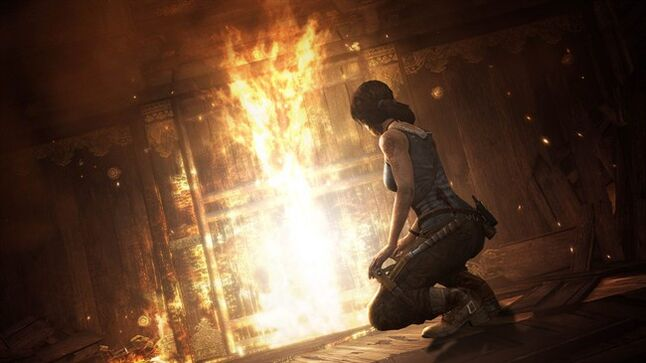 This publicity photo released by Crystal Dynamics/Square Enix shows a scene from the video game,