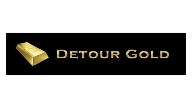 The logo of Detour Gold Corp. is shown. THE CANADIAN PRESS/HO